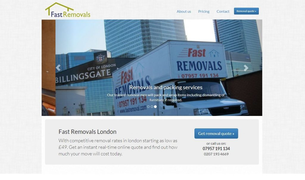 fast removals homepage