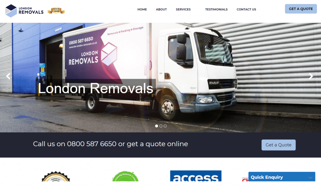 london removals homepage