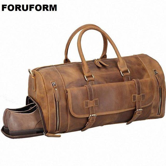 Men's handbag Travel Bag Genuine Leather