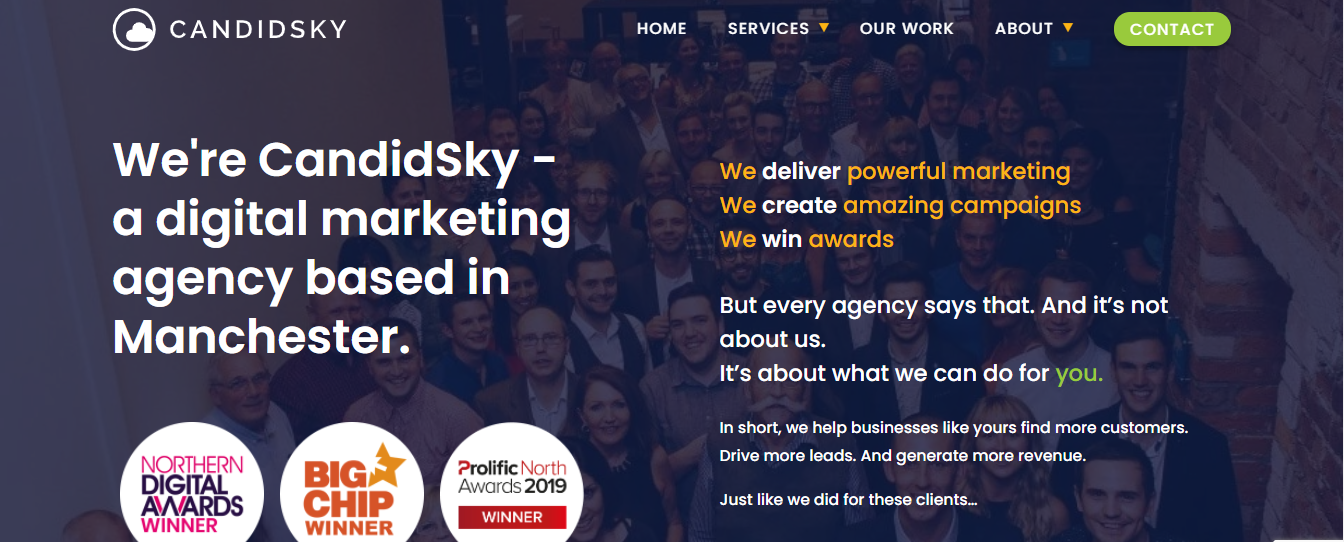 candidsky seo agency manchester